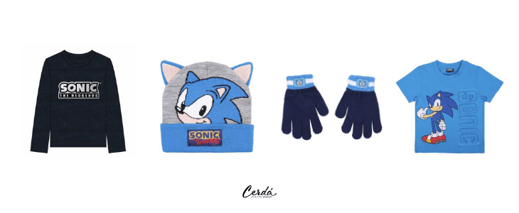 Sonic products, clothes and accessories