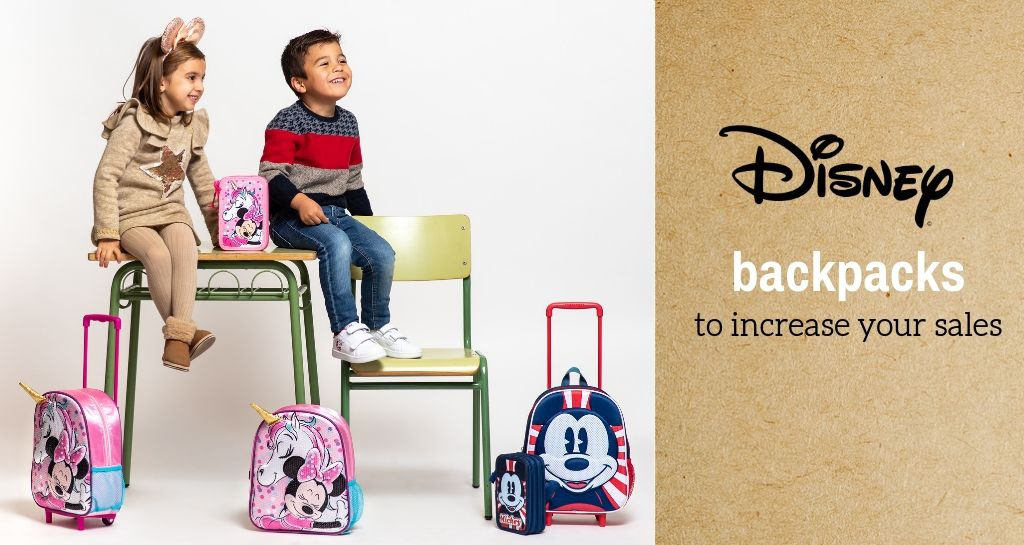 Disney backpacks to increase your sales in BTS campaign