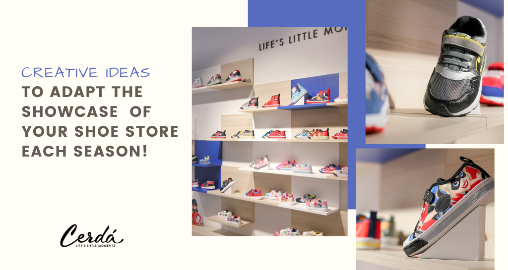 How to adapt the showcase of your shoe store. One for each season of the year!