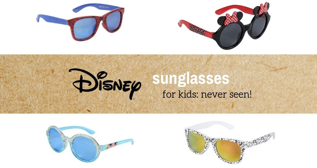 Disney sunglasses for kids: never seen!
